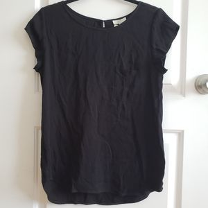 Black Joie top with breast pocket